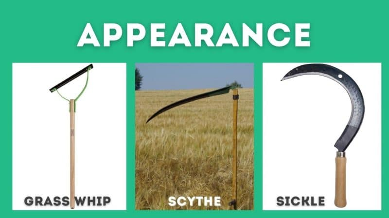 grass whip vs scythe vs sickle