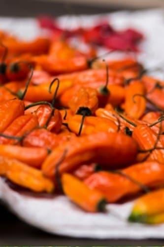 orange cayenne peppers